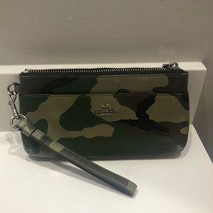 Authentic camouflage Coach wristlet wallet